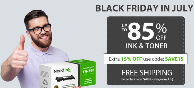Black Friday ink July Sale - 15% off all ink and toner cartridges