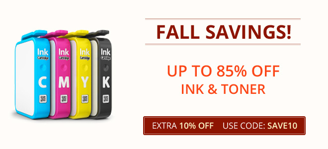 Fall sale 2019 - 10% off all ink and toner cartridges