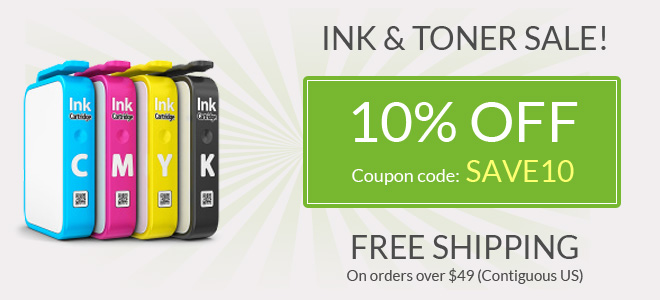 printer ink sale - 10% off all ink and toner cartridges